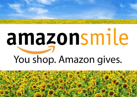 amazon smile with sunflowers