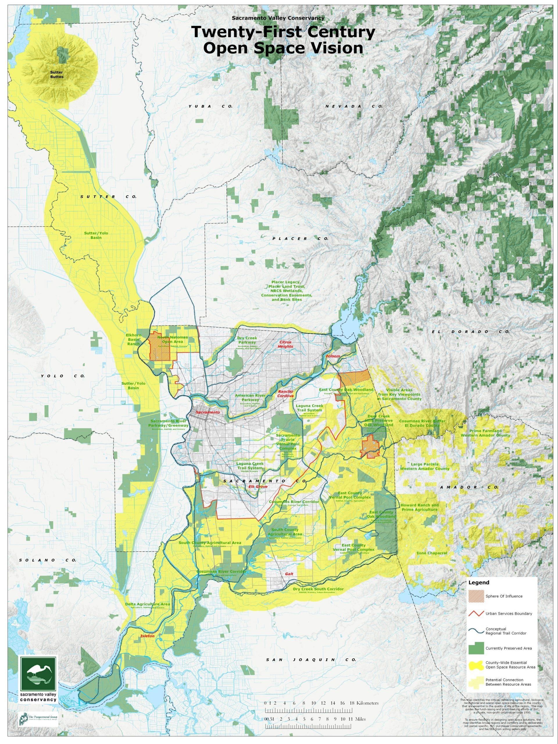 regional map of sacramento valley