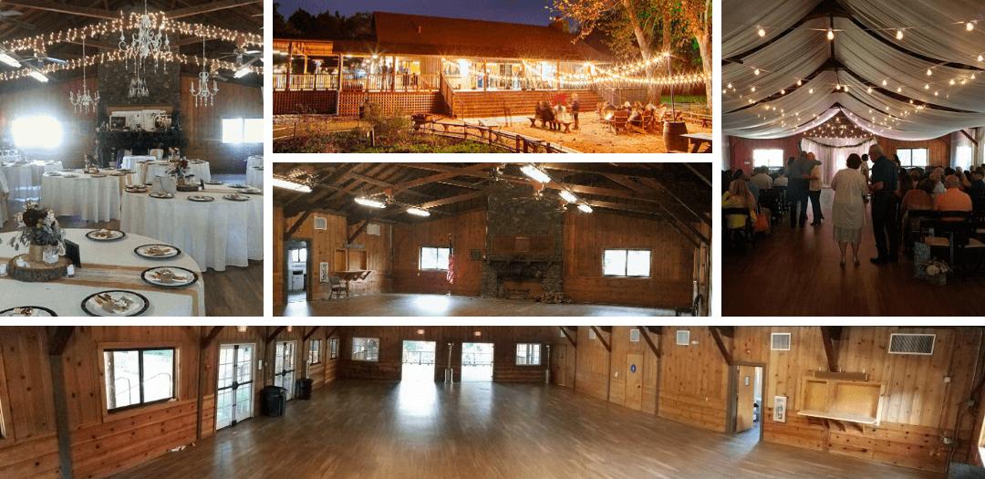 collage of reception venue