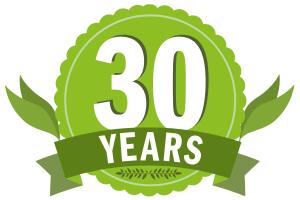 green 30 years logo