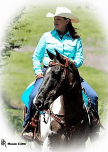 Cherri Heinze riding a horse