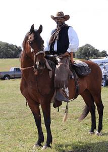 david jones on horseback at deer creek hills corral